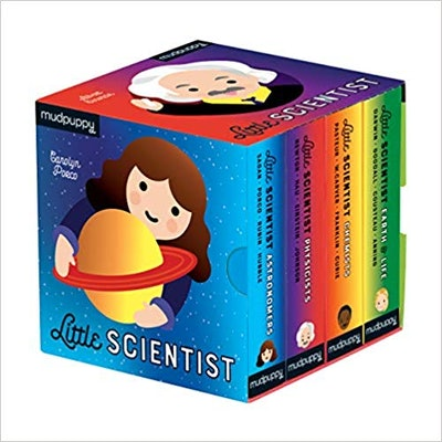 """""""Little Scientist Board Book Set,"""" by Mudpuppy and Emily Kleinman"""