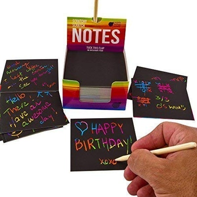 Rainbow Scratch Off Mini Notes (150 Sheets)