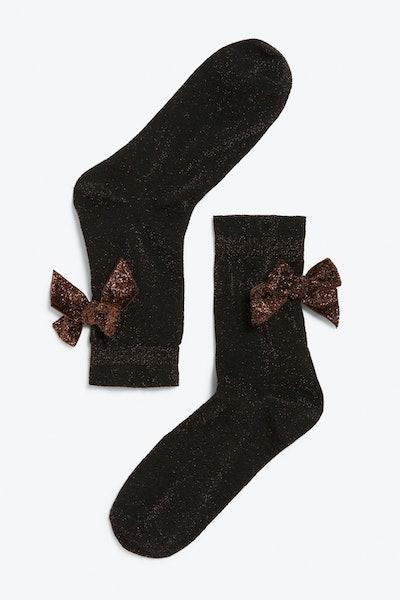 Monki Bow Details Socks
