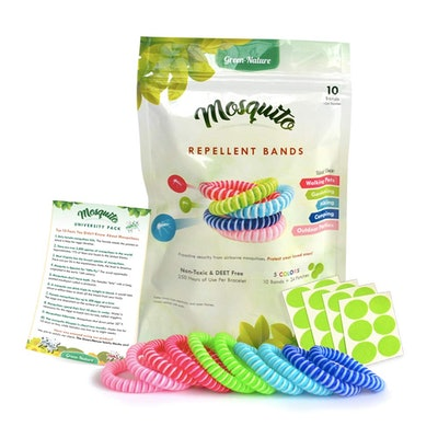 Green-Nature Mosquito Repellent Bracelets (Pack of 10)