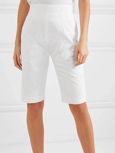 Cotton-Blend Moire Shorts