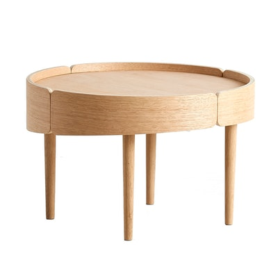 Woud Skirt Coffee Table Low - White Pigment