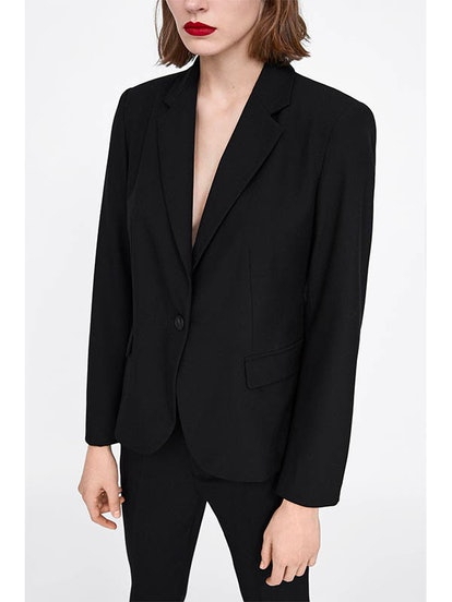 Basic Lapel Collar Blazer