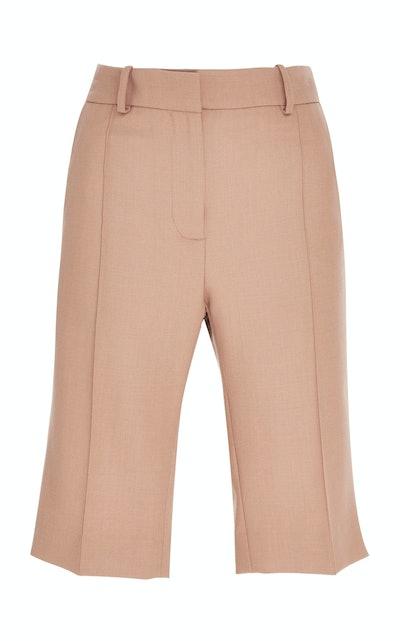 Pleated Twill Shorts