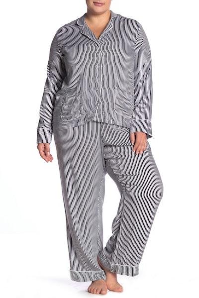 Long Sleeve Notch Collar Top & Pants Pajama Set