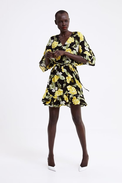 Floral Print Dress Details