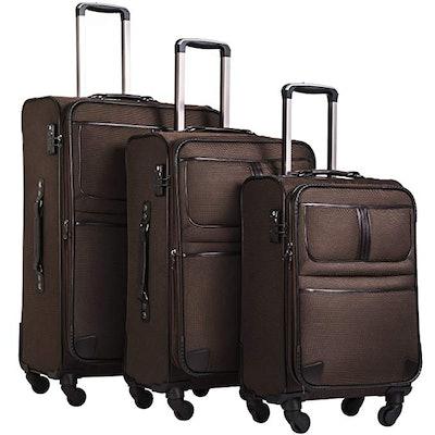 Coolife Luggage 3 Piece Set