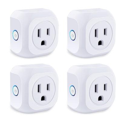 KOOTION Smart Plug 4 Pack Wifi Enabled Mini Outlets Smart Socket