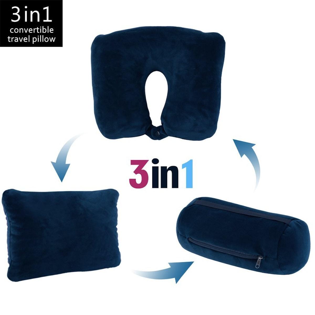 JML 3-In-1 Travel Neck Pillow