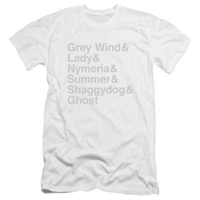 Direwolf Names Unisex T-shirt from 'Game of Thrones'