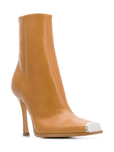 Western Toe-Cap Ankle Boots
