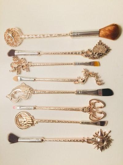 Game of Thrones 8 Piece Metal Makeup Brush Set