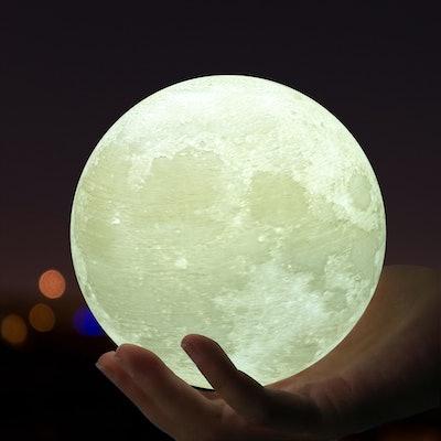 Large Moon Light, 3D Printing Moon Lunar LED Night Light Lamp