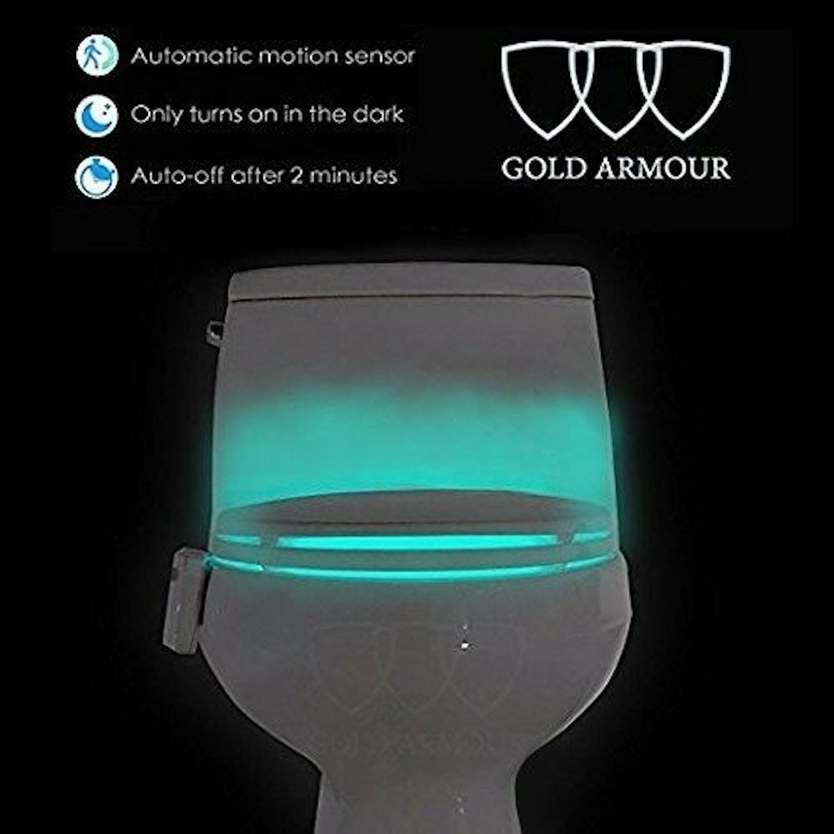 Gold Armour Toilet Night Light