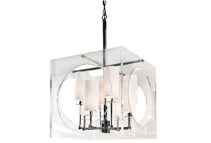 8-Bulb Acrylic Cube Chandelier