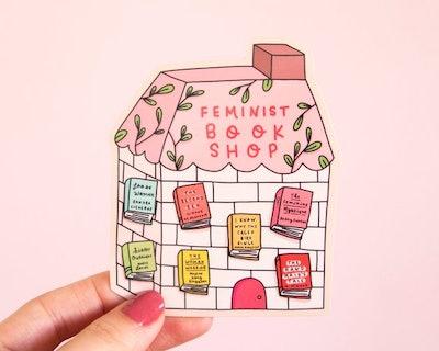 Feminist Vinyl Sticker- Feminist Book Shop Feminist Literature Planner Sticker Laptop Sticker Bumper Sticker Feminist Gift
