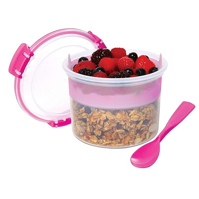 Sistema Breakfast To Go Reusable Food Container with Removable Tray & Spoon
