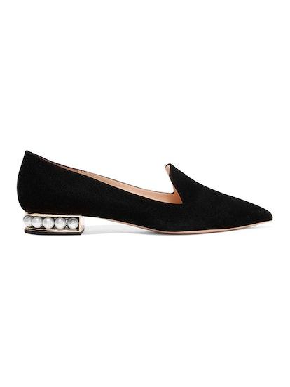 Casati Embellished Suede Loafers