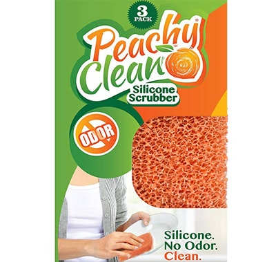 Peachy Clean Antimicrobial Silicone Scrubber (3 Pack)