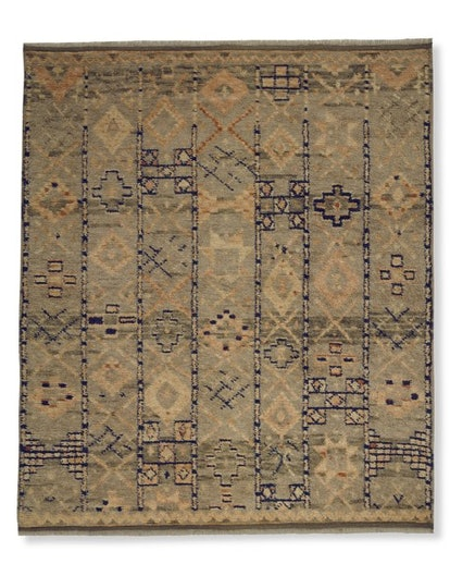 Hand-Knotted Soak Moroccan Rug