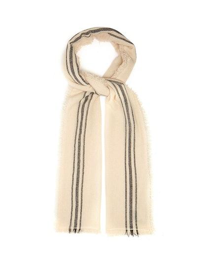 Vala Striped Fine-Knit Scarf