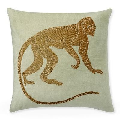 Monkey Zardozi Pillow Cover