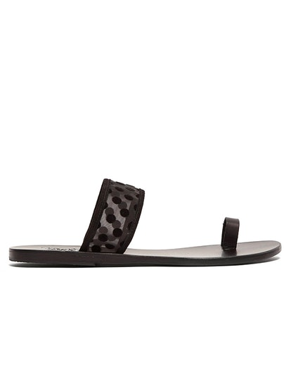 Thraki Mesh And Leather Sandals