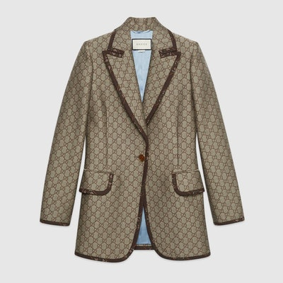 GG Wool Canvas Jacket