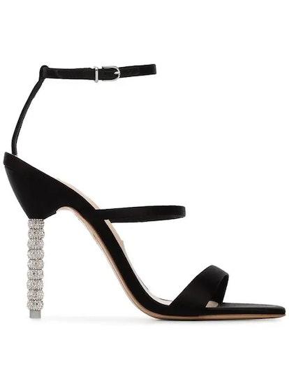 Black Rosalind Crystal Embellished Stiletto Heels