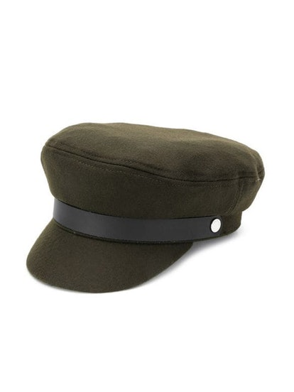 Classic Beret In Olive Green