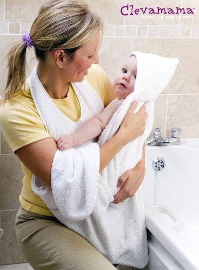 Clevamama Splash and Wrap Baby Bath Towel,