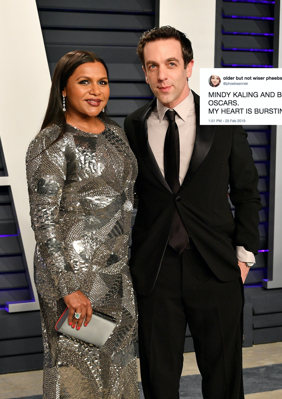 Mindy Kaling Took B J Novak To An Oscar Party Fans Of The Office Were So Into The Reunion Video