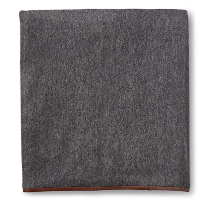 Cashmere Throw with Leather Binding