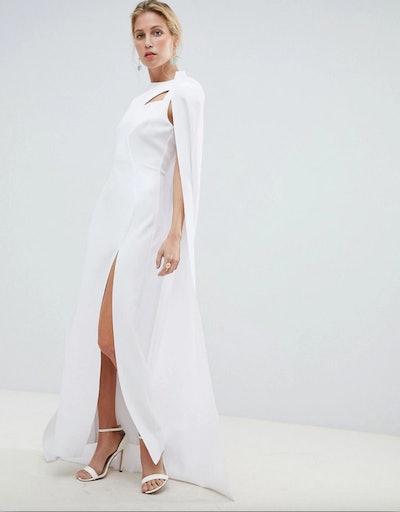 Premium Cape Maxi Dress