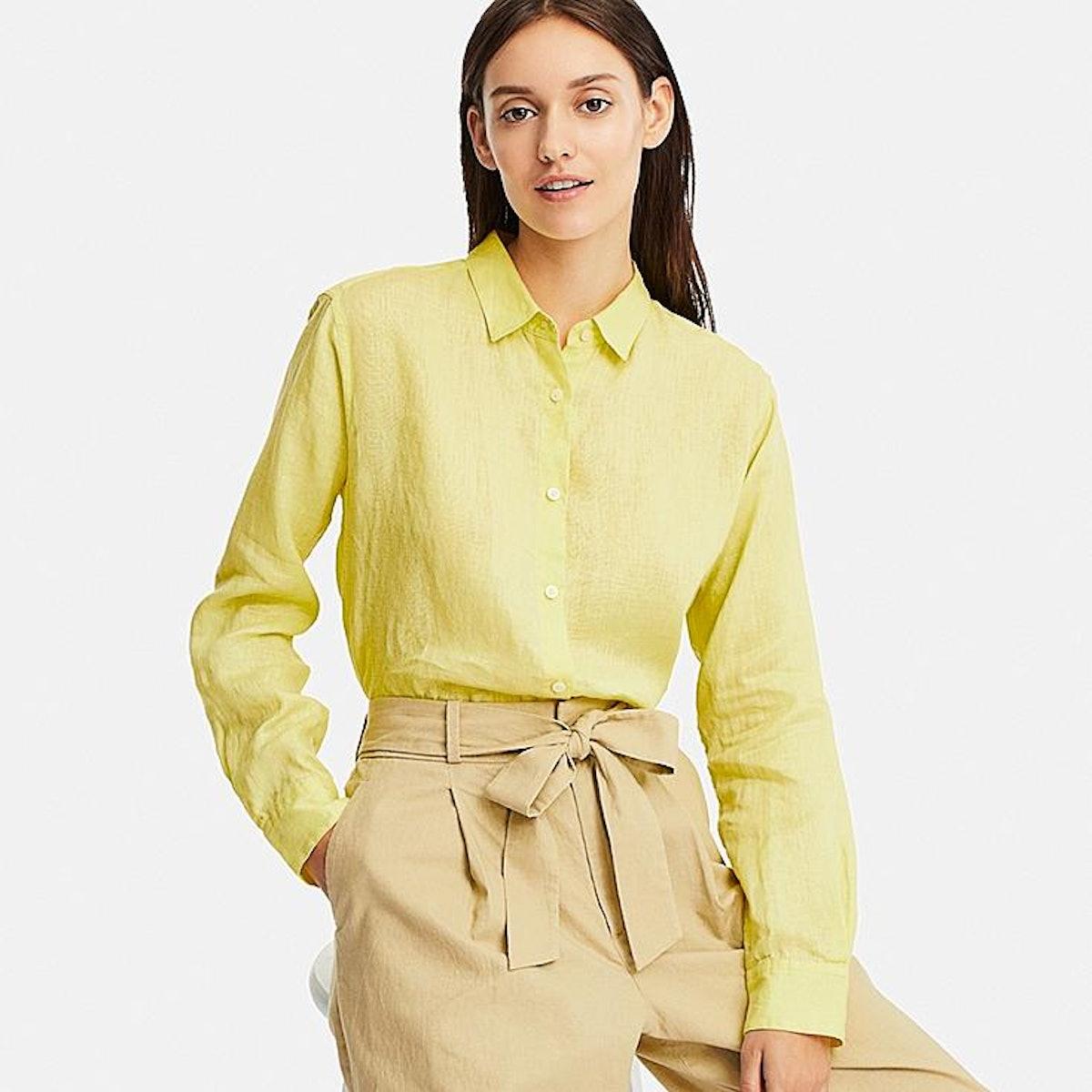 Women Premium Linen Long-Sleeve Shirt