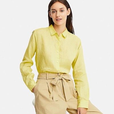 Women Premium Linen Long-Sleeve Shirt