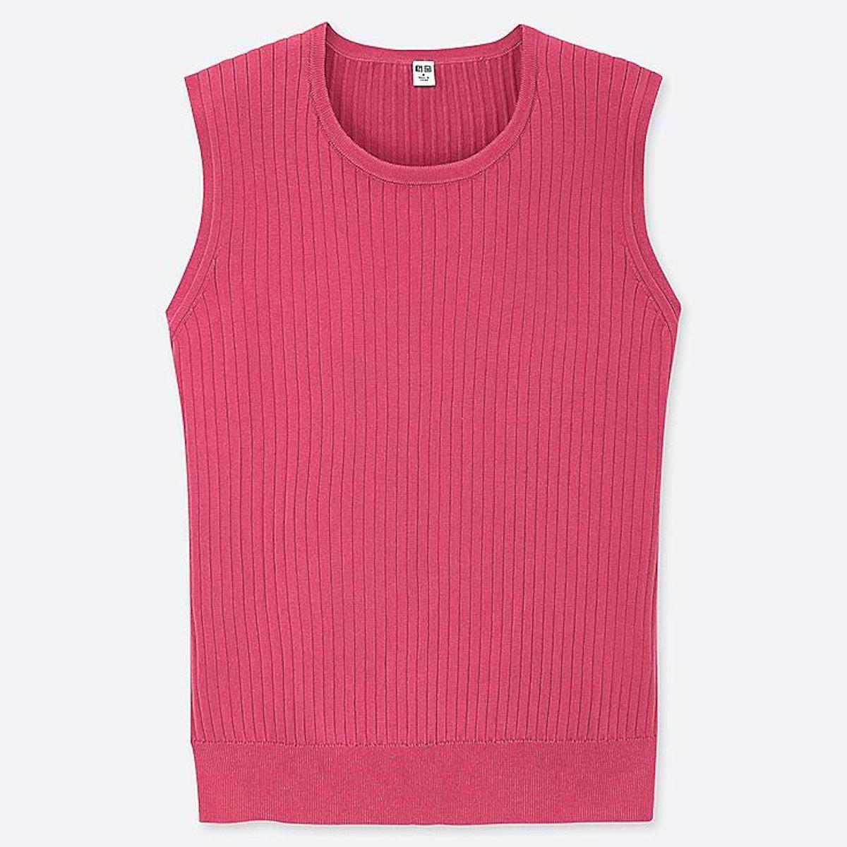 Women UV Cut Supima Cotton Sleeveless Sweater