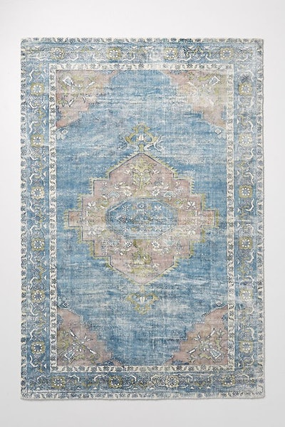 Joanna Gaines for Anthropologie Ruby Rug, Blue Motif, 9' X 12'