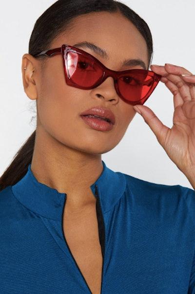 Eyes on the Prize Oversized Cat-Eye Sunglasses