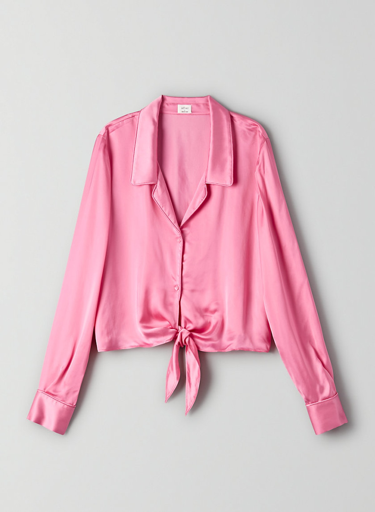 Wilfred Peaufiner Blouse Cropped, Tie-Front Blouse