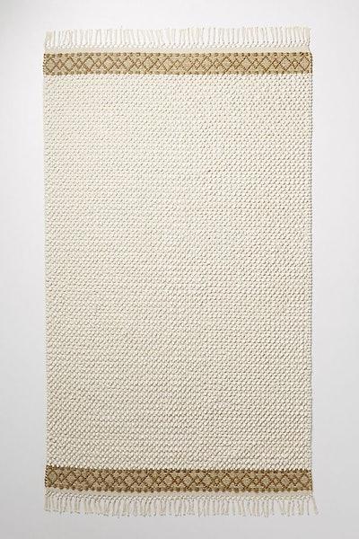 Joanna Gaines for Anthropologie Textured Eva Rug, Ivory, 9' X 12'