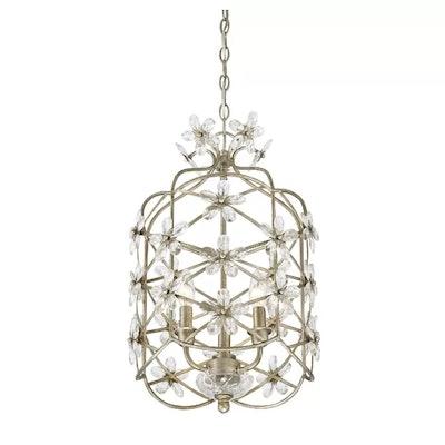 Mistana Duron 3-Light Steel Lantern Pendant