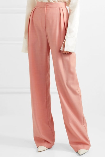 Wool-Blend Wide-Leg Pants