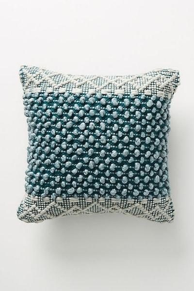 "Joanna Gaines for Anthropologie Textured Eva Pillow, Dark Turquoise, 18"" X 18"""