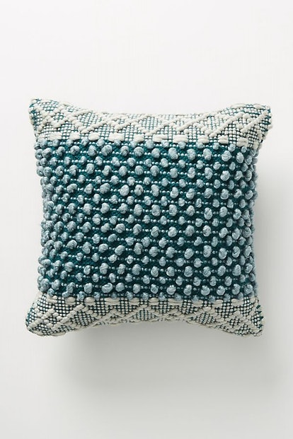 "Joanna Gaines for Anthropologie Textured Eva Pillow, Dark Turquoise, 18"" X 18"""