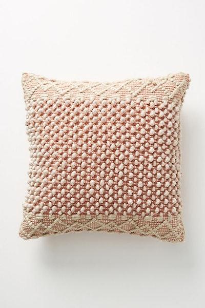 "Joanna Gaines for Anthropologie Textured Eva Pillow, Terracotta, 20"" X 20"""