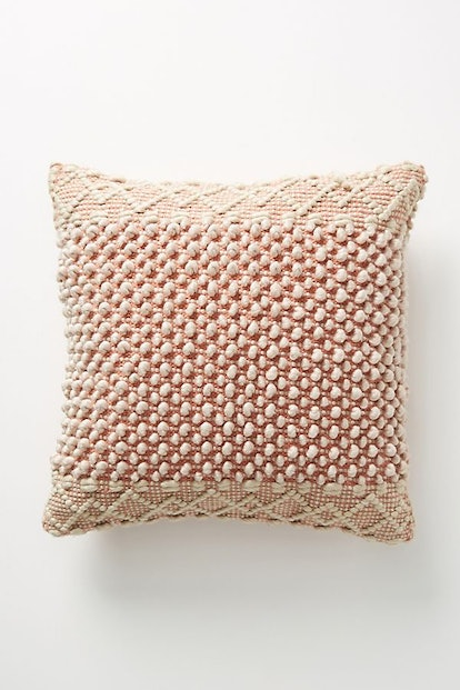 "Joanna Gaines for Anthropologie Textured Eva Pillow, Terracotta, 20"" X 20"""