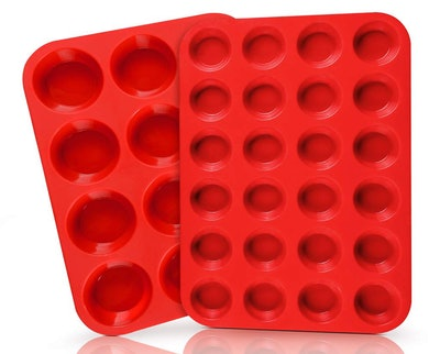 SJ Silicone Muffin Pans, 2-Pack