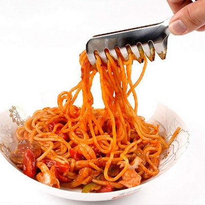 HornTide Stainless Steel Pasta Tongs (2 Pack)