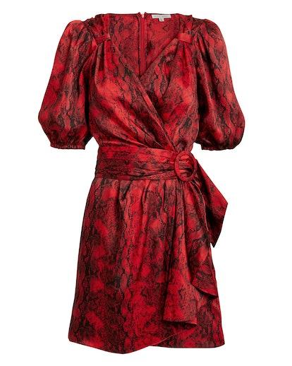 Torrey Snakeskin-Print Mini Dress